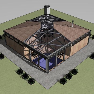 """Проект банного комплекса с жилыми помещениями """"4zone"""""""