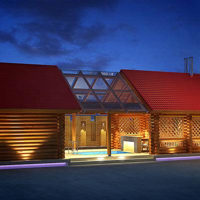 Проект банного комплекса с бассейном «Люкс»