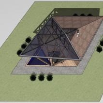 Проект банного комплекса «Цикада». Архитектор: Сергей Косинов. Новосибирск