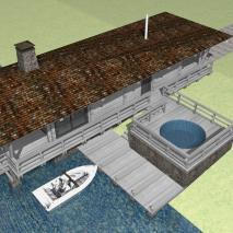 Проект бани «Ангара». Архитектор: Сергей Косинов. Новосибирск. 2015 г.